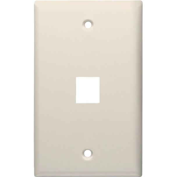 1-Port Standard Size Keystone Wall Plate (Lite Almond)