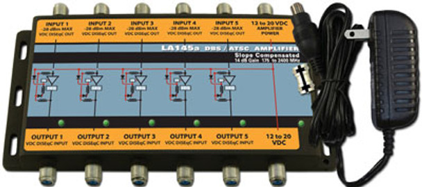 Sonora LA145a-T DBS 14 dB Gain 5 Trunk Amplifier With Power Supply