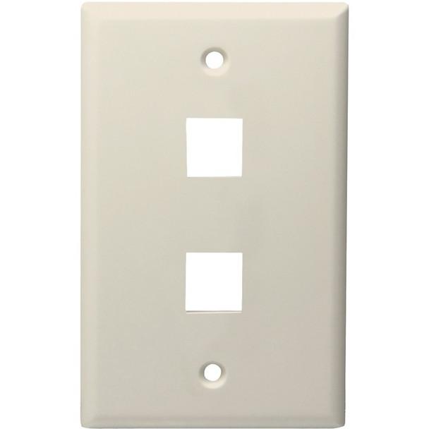 2-Port Standard Size Keystone Wall Plate (Lite Almond)