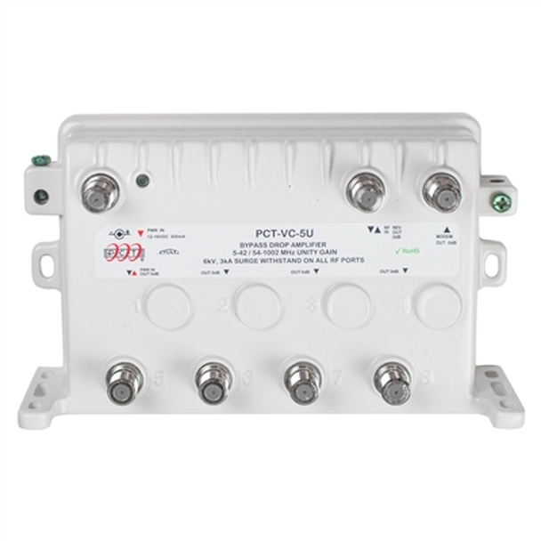 PCT Bypass RF Drop Amplifier with Unity Gain (PCT-VC-5UN)