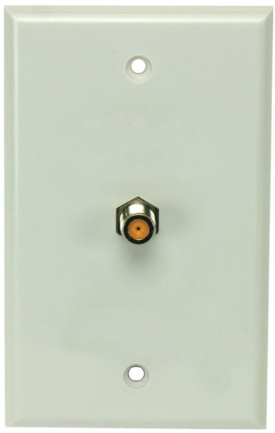 Perfect Vision WPSNPWSC-05 White Wall Plate with Single 3GHz F-81