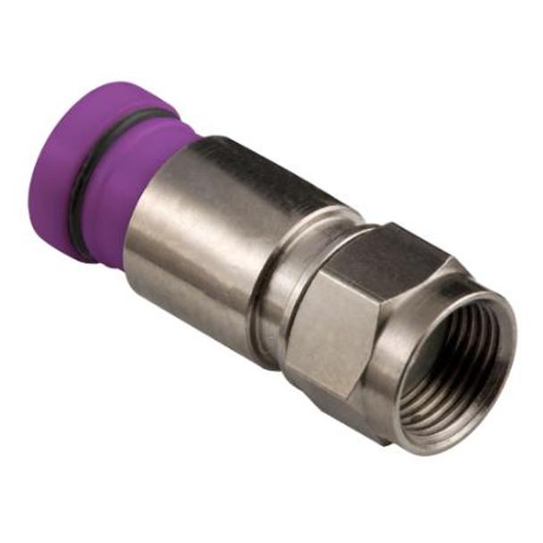 Thomas & Betts SNS1P6QS Snap-N-Seal RG6 Quad F Connectors (Bag of 50)