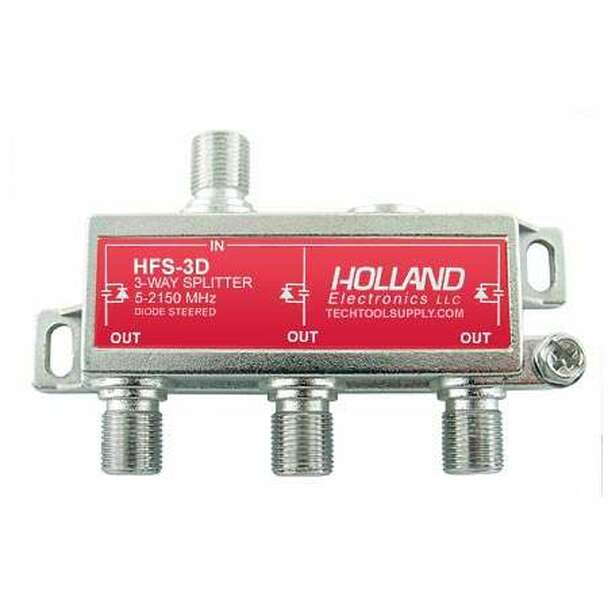 Holland HFS-3D 3-Way Diode Steered Splitter (5-2150 MHz)