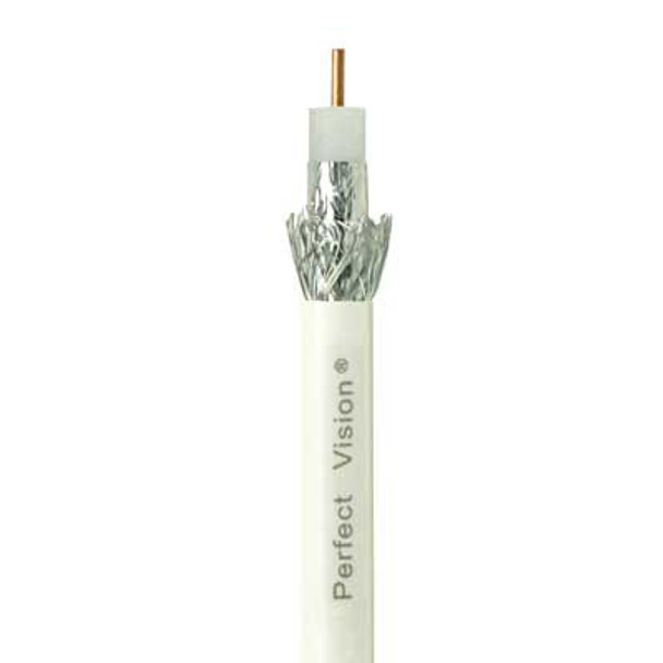 Perfect Vision CB1W06DSCR0-05 RG6 Coax Cable-DIRECTV Approved, Solid Copper- Single 1000 Ft, White