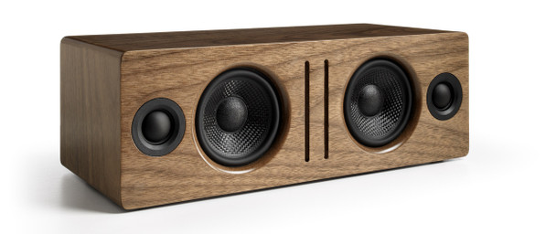 Audioengine B2 Premium Bluetooth Speaker - Walnut (B2-WAL) - Front Angle