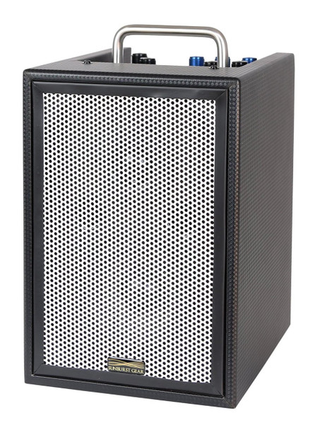 Sunburst Gear MM1P 3-Channel Mixer/Monitor Compact Portable All-In-One PA Speaker System - Front Side view