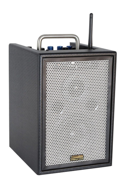 Sunburst Gear M1BR3 Three Channel Mixer/Monitor Compact Portable Rechargeable Bluetooth PA Speaker System - front side view