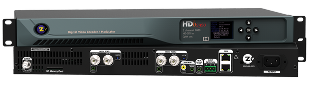 ZeeVee HDbridge 2920 HD-SDI 2-Channel Broadcast Quality Digital Encoder - 1080p - Stack