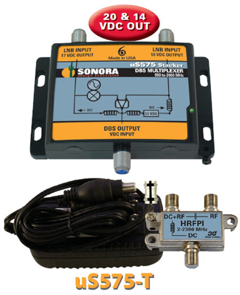 uS575-T Sonora DBS Stacker for Single Line Satellite Distribution Systems