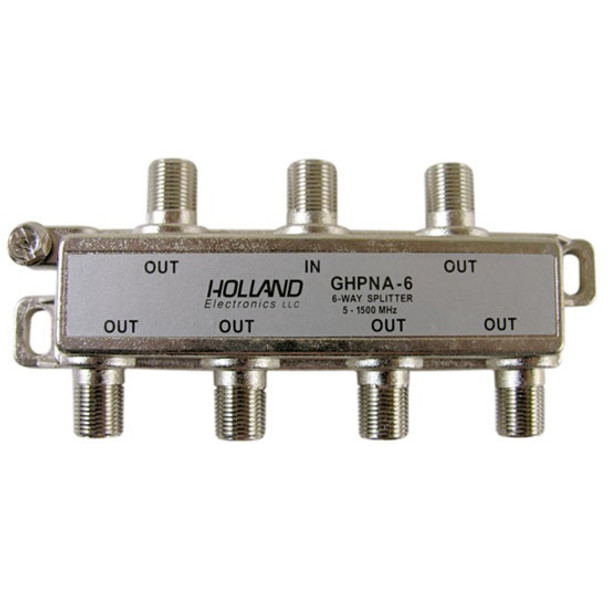 Holland Electronics GHPNA-6 IPTV Broadband Coaxial Splitter - AT&T U-Verse approved