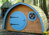 Our curved walls and round windows and door in our Hobbit Holes create a wonderfully whimsical, fun and cozy space to play!