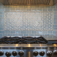 How To Match Accent Tile Over Your Stove with Subway Tile