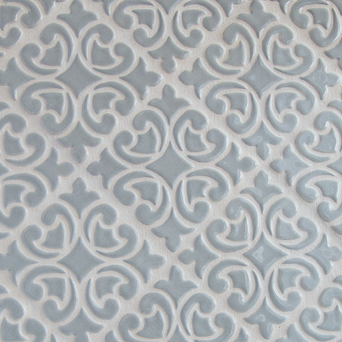 Hiser pattern handmade tile in Light Gray