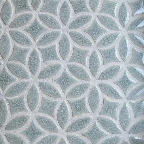 Bloom pattern handmade tile