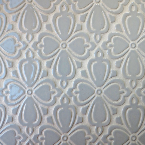 Brocade pattern handmade tile