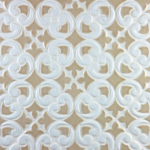 Two Color Hiser Pattern Handmade Tile