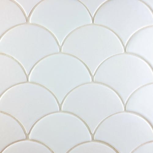 Scallop handmade tile