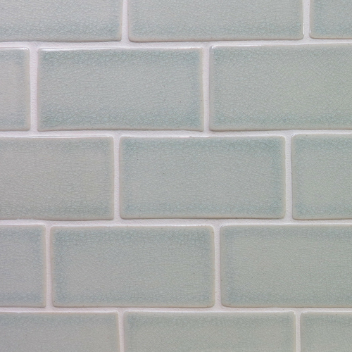 Handmade subway tile with crackle glaze