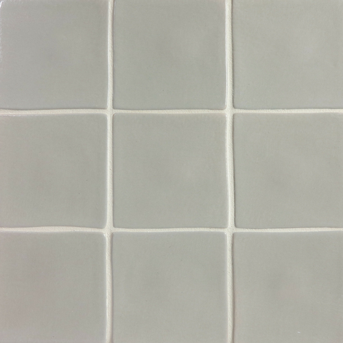"4x4"" handmade tile with Slate Gray glaze"