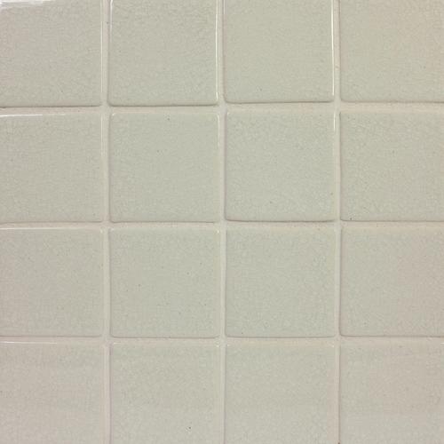 """3x3"""" handmade tile with FC Cream Crackle glaze"""