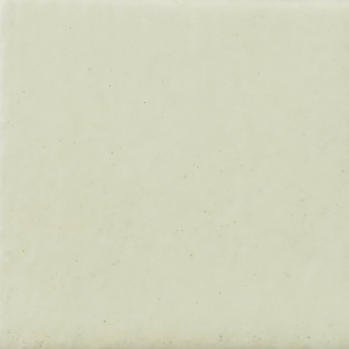 Satin Soft White Glaze on Handmade Tile