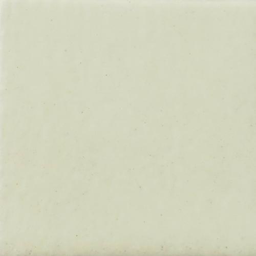 Satin Soft White Glaze on Handmade Tile