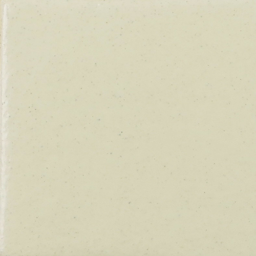Glossy Soft White Glaze on Handmade Tile
