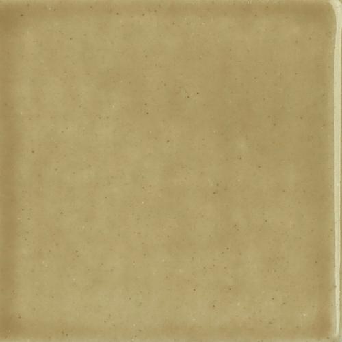Light Brown Watercolor Glaze on Handmade Tile