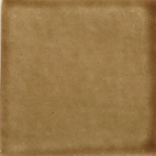 Dark Brown Watercolor Glaze on Handmade Tile