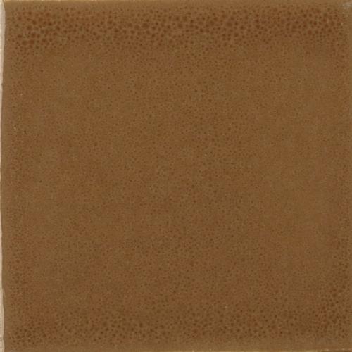 Rust Glaze on Handmade Tile