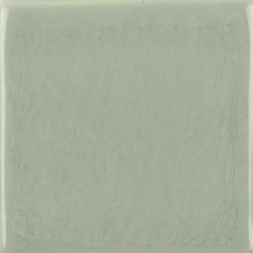 Light Gray Glaze on Handmade Tile