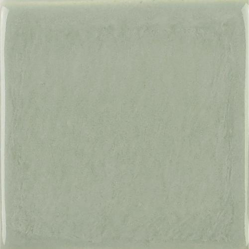 Light Gray Glaze on Handmade Tile