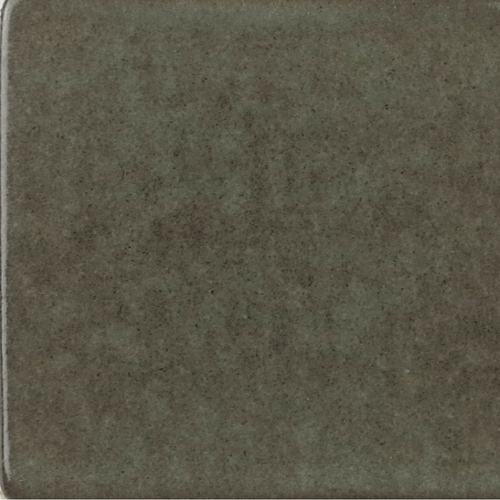 Steel Gray Glaze on Handmade Tile