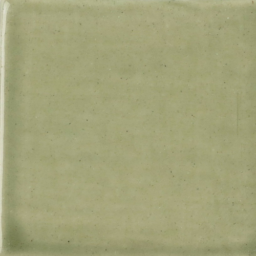 Sage Green Watercolor Glaze on Handmade Tile