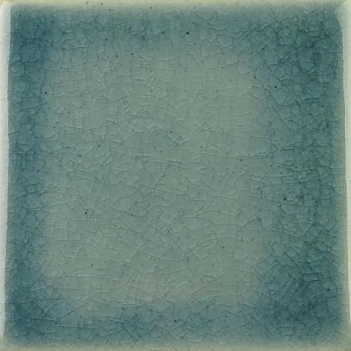 Deep Blue Crackle Glaze on Handmade Tile