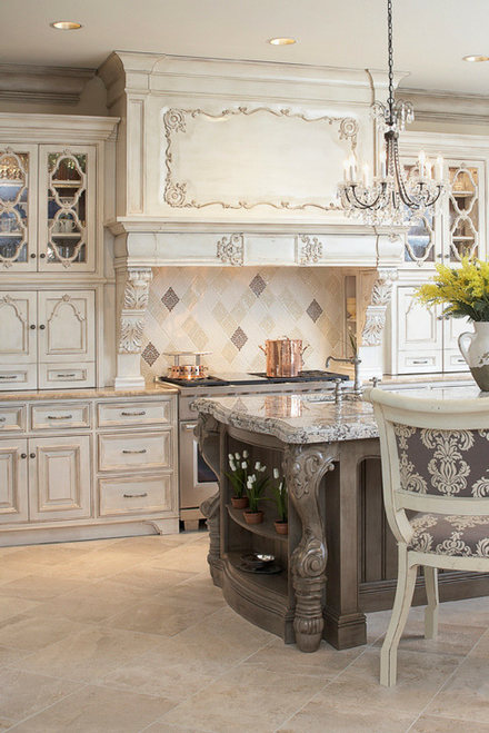 Luxury Kitchen with Handmade Tile Backsplash
