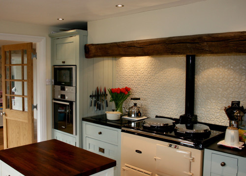 English Country Kitchen with Bloom Handmade Tile - Julep ...