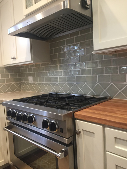Classic Cottage Kitchen With Handmade Subway Tile 4x4