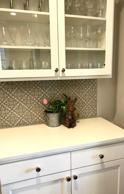 Vintage Modern Kitchen with Cobham Handmade Tile