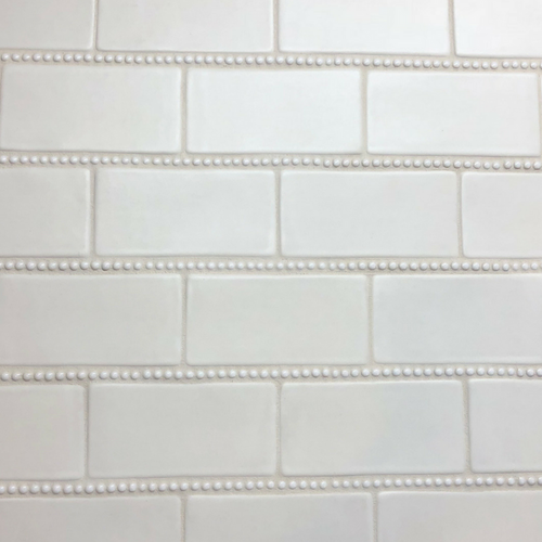 Handmade Subway Tile with Pearl Trim