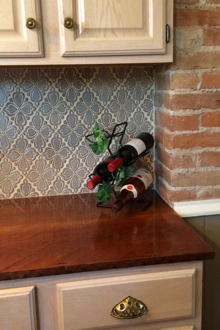 Handmade Tile Backsplash in Victorian Farmhouse Kitchen