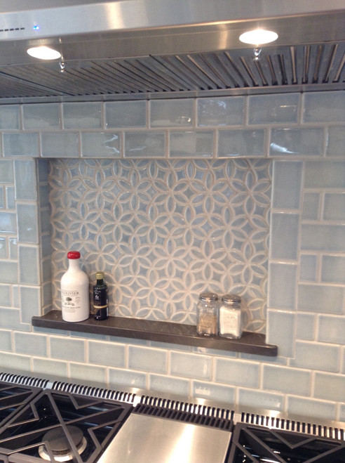 Beautiful Blue Kitchen With Bloom Handmade Tile Julep