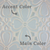 Two-Color Brocade Handmade Tile Main & Accent Colors