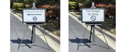 Easy setup, very visible even in direct sunlight.