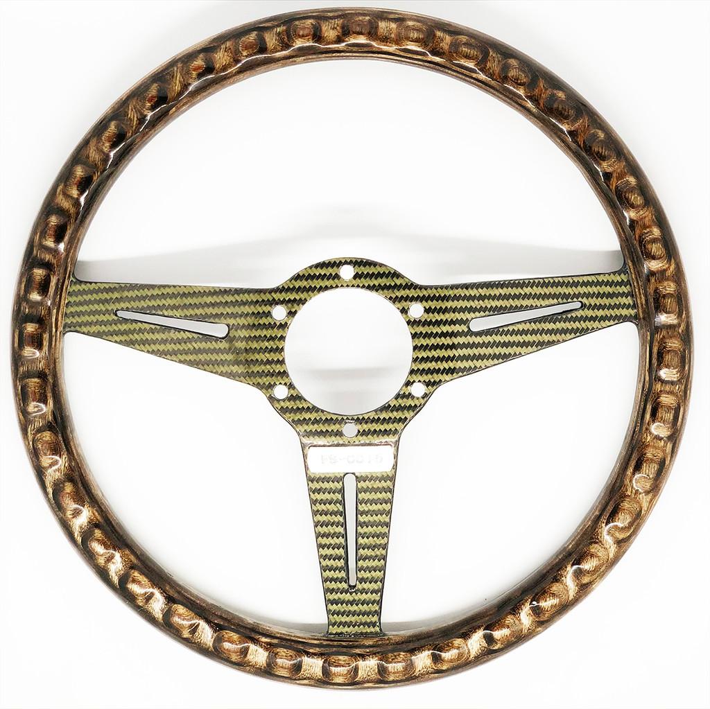 Fiberspoke Classic 330mm Baltic Birch W/ Carbon Fiber Steering Wheel