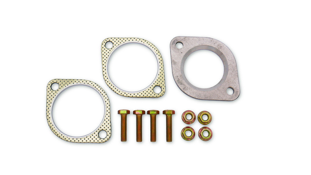 ISR single exit G37 Exhaust system flange adapter and gaskets