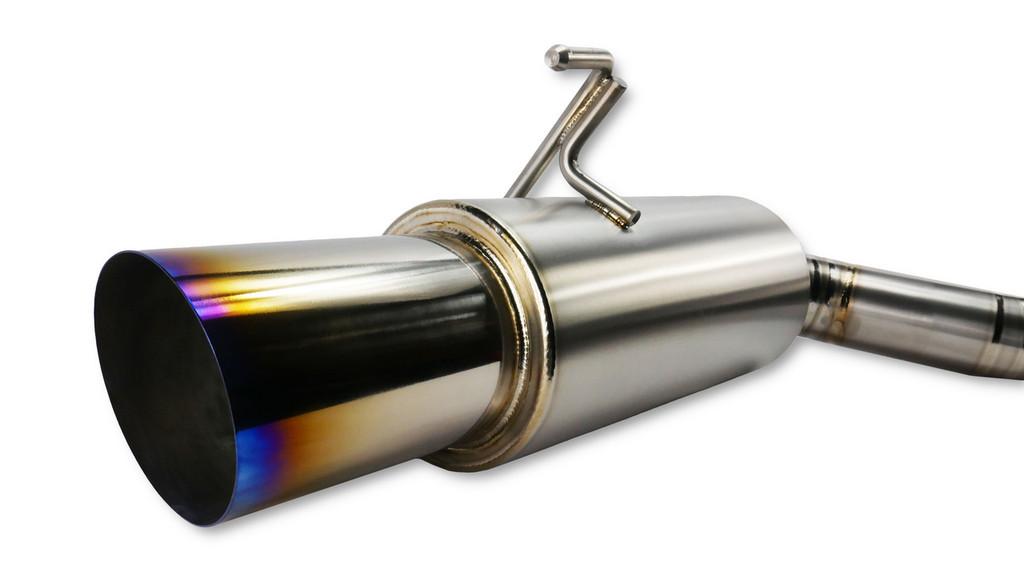 ISR Full titanium Nissan 370z Single Exit Exhaust muffle