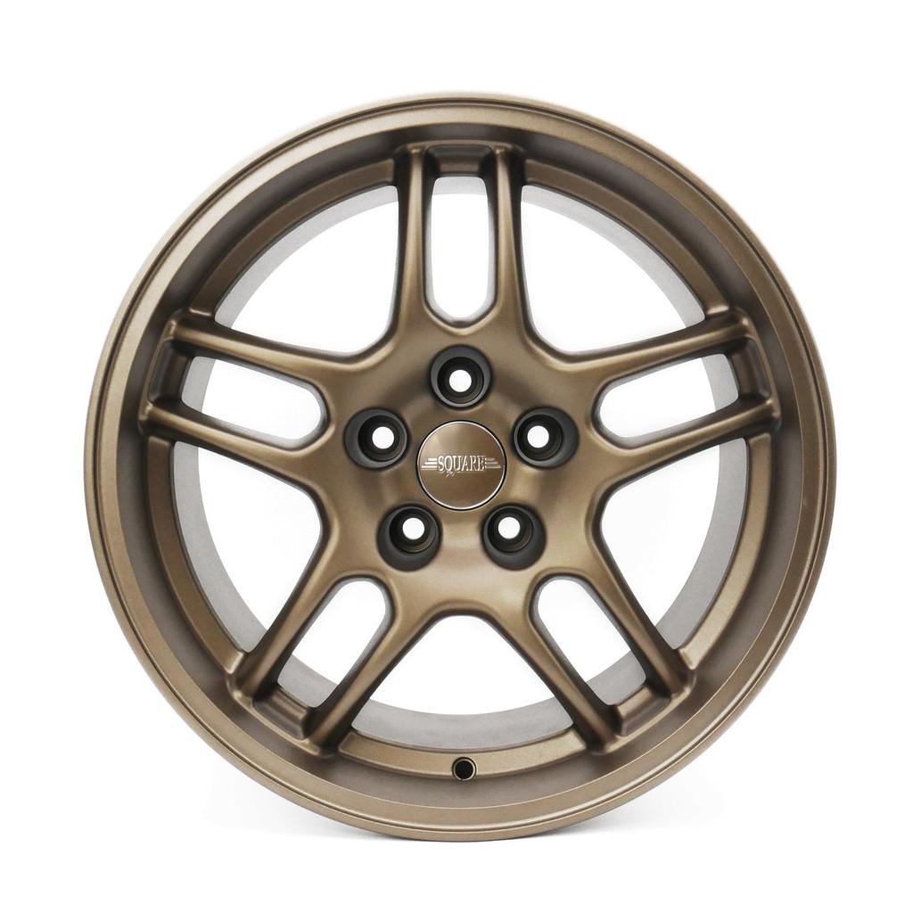 SQUARE Wheels G33 Model - 17x9 +15 5x114.3 - Textured Bronze set of 4 wheels