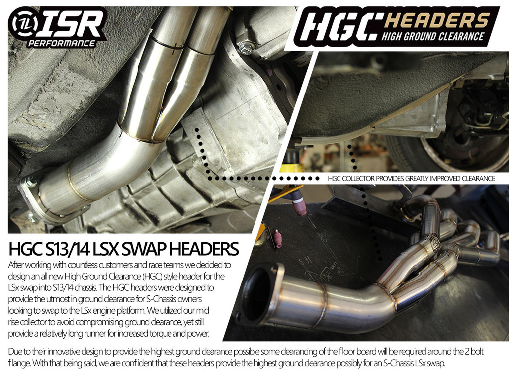 "ISR Performance LS Swap Header - Nissan 240sx 89-98 - 1 3/4"""
