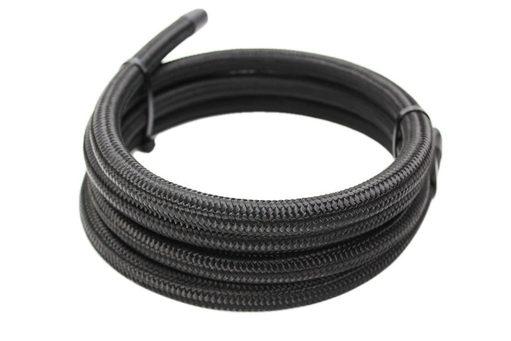 ISR Performance -6AN Braided Black Nylon Hose - (Per Foot)